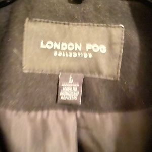 Never worn London Fog wool coat with scarf